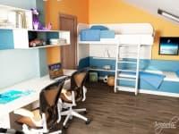 تصميم اصلي لغرف نوم الاطفال مع الوان نابضة بالحياة