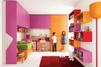 غرف نوم الملونة و المودرن