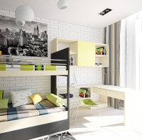 تصميم ديكور غرف نوم الصغار الملونة