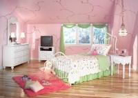 تصميم ديكور لغرف نوم بنات باللون الوردي